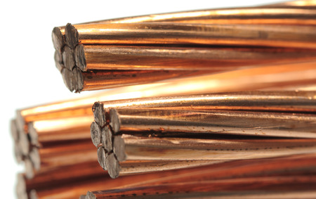 cleared: The cleared electric power cable with three lines