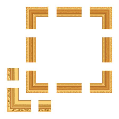 gold frame Çizim