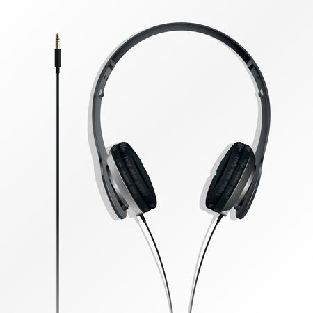 big earphones black with the plug