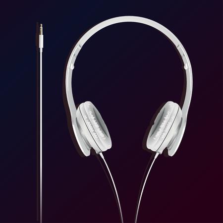 big earphones white with the plug