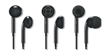 Een setje verschillende oortelefoons van de verschillende partijen
