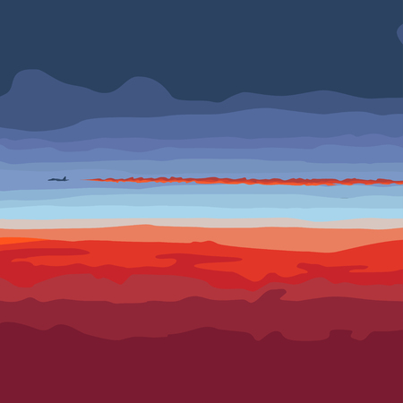 the flying plane at sunset, a decline