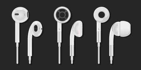 A set of different earphones from the different parties