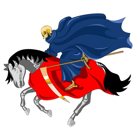 john: I looked, and behold a pale horse: and his name that sat on him was Death Illustration