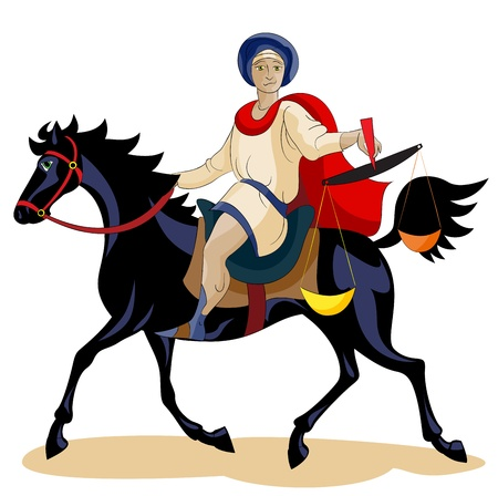 revelation: I beheld, and a black horse; and he that sat on him had a scales in his hand.
