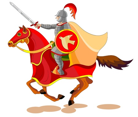 ナイト: そこは赤だった別の馬に出かけた: 電源は、地球から平和を取るその上に座っていたことを彼に与えられたし、彼らが互いを殺す必要があります  イラスト・ベクター素材