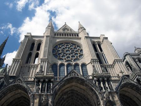 edificación: Catedral de Chartres, Francia Foto de archivo