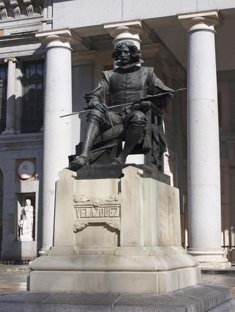 velazquez: Velazquez statue, Prado Museum, Madrid, Spain
