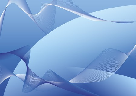 Abstract composition consisting of lines and shapes on a blue background Stock Photo - 4331655