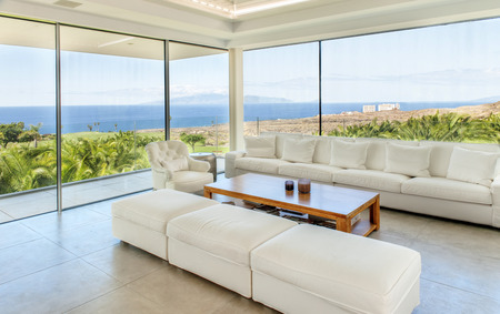 ocean of houses: Living room in the modern villa with sea view