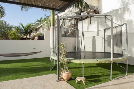 trampoline: trampoline near the villa