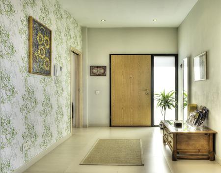 indoor background: Hall in the modern villa