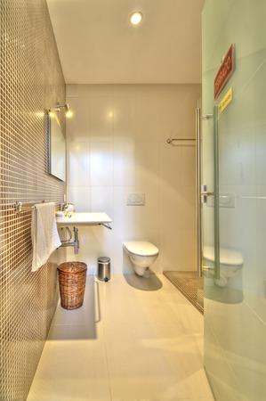 luxury bathroom: Modern bathroom in luxury villa