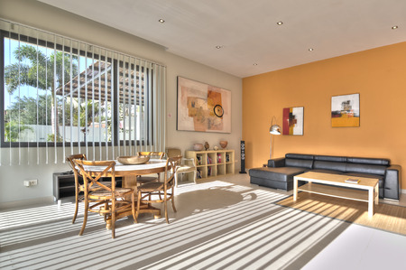 modern living room: Living room in modern style Stock Photo