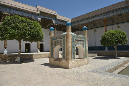 Courtyard of an Ancient Mosque in Bukhara Uzbekistan
