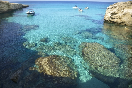 dive trip: Clear water in the blue lagoon in Cyprus
