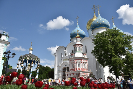 lavra: The Cathedral Of The Holy Trinity St. Sergius Lavra. Sergiyev Posad, Russia