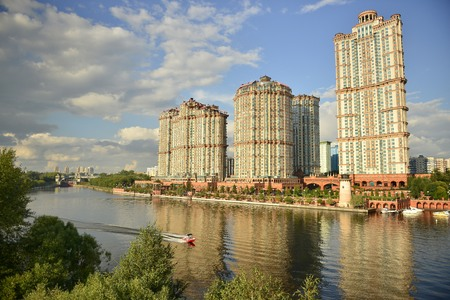 The River Moscow. The journey on the River Moscow. Редакционное