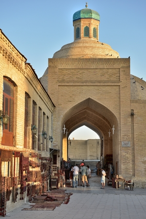 Bukhara, Uzbekistan - August 05, 2015: Old souks to the majestic streets of Bukhara in Uzbekistan.
