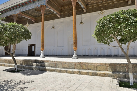 worshipped: Bukhara, Uzbekistan - August May 2015: The MEMORIAL COMPLEX of BAHAUDDIN NAQSHBANDI (1318-1389), is a center of pilgrimage as it was worshipped not only in Bukhara but also in the whole Islamic world.