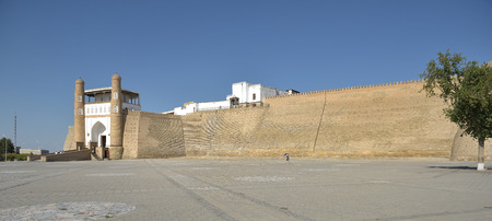 greatness: Ark is the ancient fortress (IX - X century) in Bukhara. The Ark fortress, towering over the old Registan square and was a symbol of greatness, power and strength in the Emirate of Bukhara.