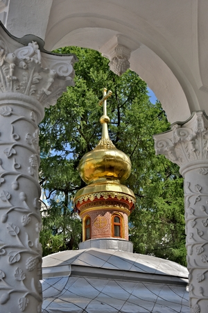 The Cathedral of the Holy Trinity St. Sergius Lavra. The Shrine of all Christians. The center of pilgrimage of the Christian world. Sergiyev Posad is included into the Golden ring of Russia.
