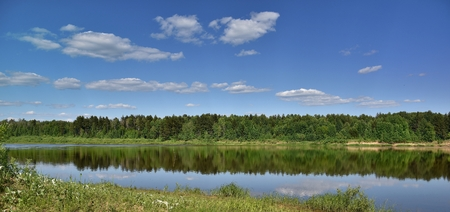 Landscape on the banks of the river Vyatka. The beauty of Russian nature. Фото со стока - 62946889