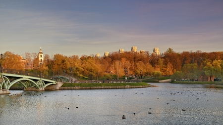 The Park Tsaritsyno State historical-architectural, art and landscape Museum-reserve, which is located in the South of Moscow and includes the Palace complex, a greenhouse, a historic landscape Park with ponds and fountains