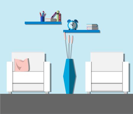 modern living room: Modern living room interior. Flat style vector illustration. Illustration