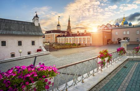 Old buildings in the Kazan Kremlin in the morning light