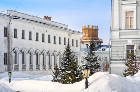 Look at the Observatory of the University of Kazan in the early winter morning