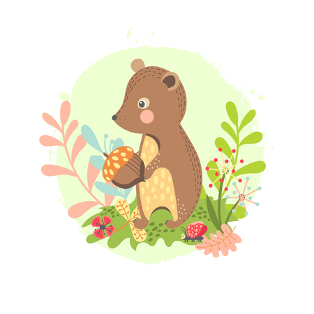 Cartoon bear child illustration