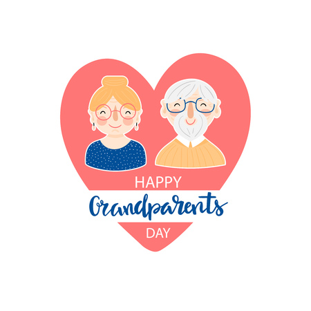 Grandparents day greeting card 스톡 콘텐츠 - 122657200