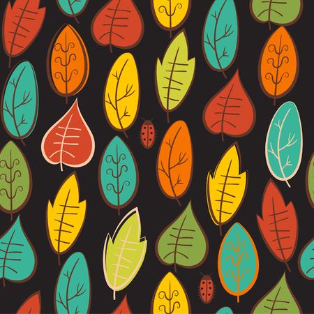 Seamless pattern with leaf,autumn leaf background.Vector illustration. Ilustrace