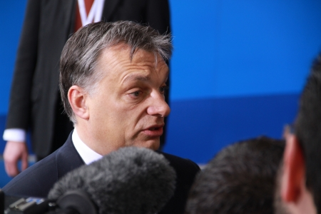 contender: Limassol, Cyprus - January 11, 2013 - Prime Minister of Hungary Viktor Orban at the special summit of the leaders of the right-centrist EPP