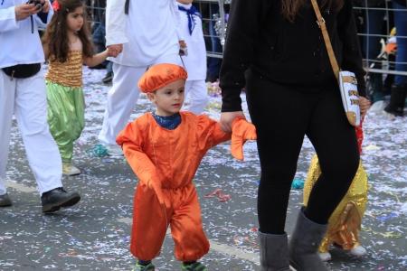 Limassol, Cyprus - March 10, 2013 - Children. Annual Carnival Procession.