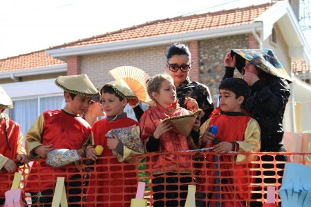 Pafos, Cyprus - March 16, 2013 - Children. Annual Carnival Procession.