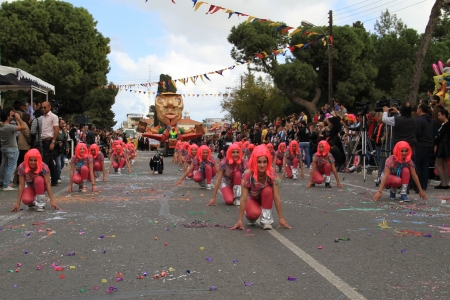 Pafos, Cyprus - March 16, 2013 - Annual Carnival Procession.