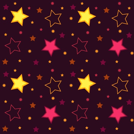 Background with multicolor stars. Seamless pattern. Иллюстрация