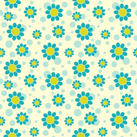 Blue flowers on light background. Seamless pattern. Stock Vector - 11597427