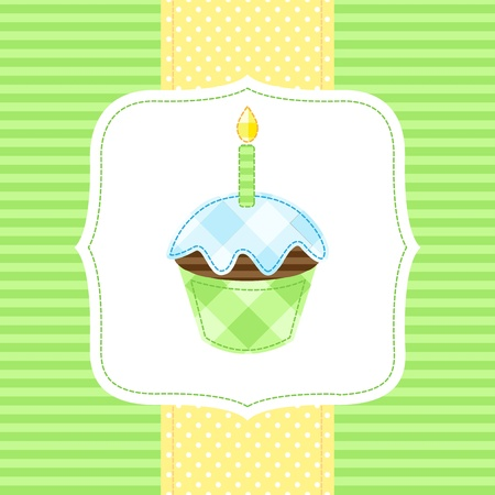 Vector card with cupcake Vector