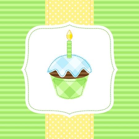 Vector card with cupcake Stock Vector - 11597411