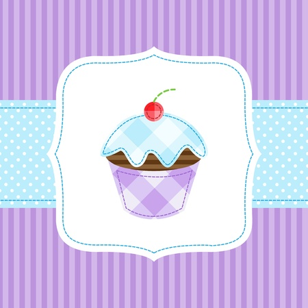 Vector card with cupcake Stock Vector - 11597413
