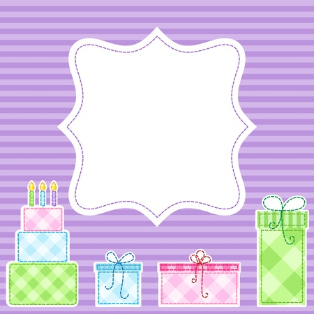 Vector birthday party card Stock Vector - 11597421