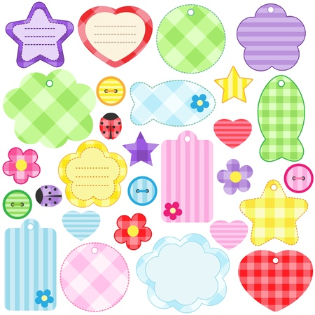 Set of different scrapbooking elements