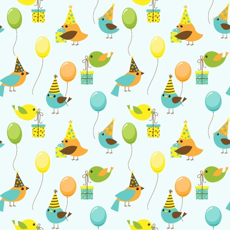 Vector background with party birds