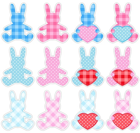 Rabbits set Vector