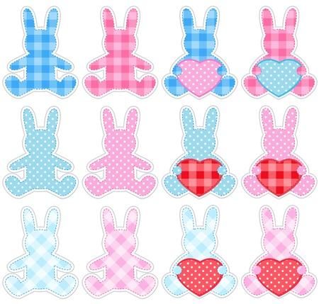 Rabbits set Ilustracja