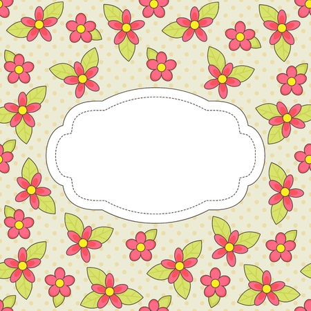 Vector flower card Vector
