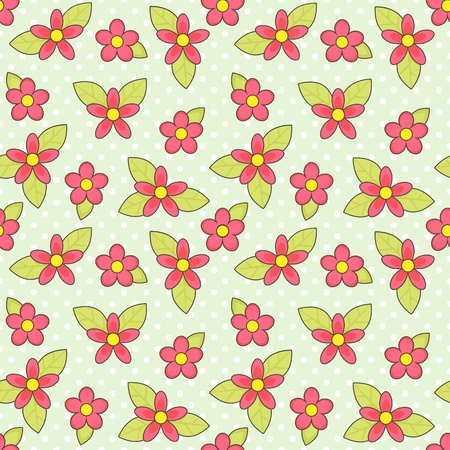 Seamless vector flower background Stock Vector - 12875720